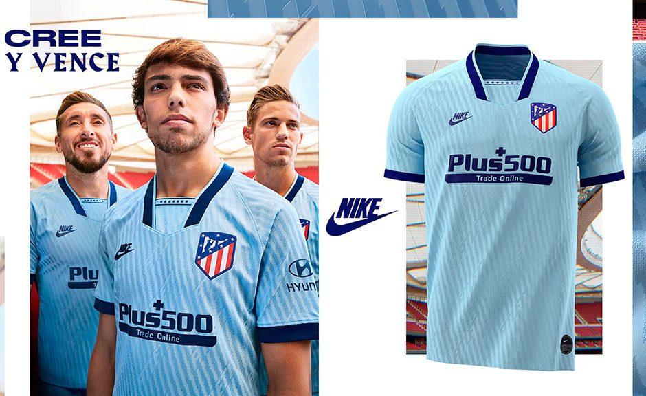 Replica camiseta de futbol Atletico Madrid barata 2019 2020 Terceera