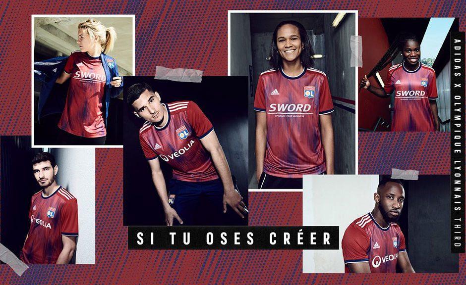 Replica camiseta de futbol Lyon barata 2019 2020 Tercera